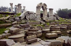 Yuan Ming Yuan Park. This is the ruins in the yuan ming yuan park. yuanmingyuan ,is also called the old summer palace, or garden of gardens. the park was Stock Image