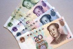 Yuan, moeda chinesa Foto de Stock Royalty Free