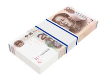 Yuan money isolated on white background. Royalty Free Stock Photography