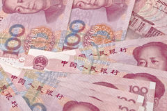Yuan notes royalty free stock photo
