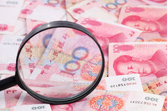 Yuan notes. China Currency royalty free stock photos