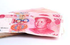 Yuan notes. China Currency Royalty Free Stock Photo