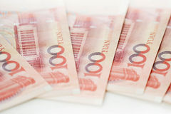Yuan notes from China's currency Stock Image
