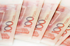Yuan notes from China's currency. Chinese banknotes royalty free stock photography