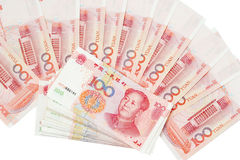 Yuan notes from China's currency Royalty Free Stock Photography