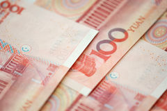 Yuan notes from China's currency Stock Photography