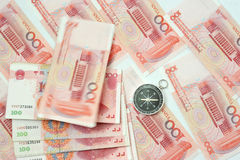 Yuan notes from China's currency Stock Photos