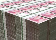 Yuan Notes Stacked Pile Stock Photography
