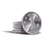 Yuan prägt Abbildung, Finanzthema stock abbildung