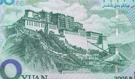 50 yuan RMB in China. Texture background royalty free stock photo