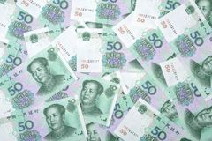 50 yuan RMB in China. Texture  background Stock Photography
