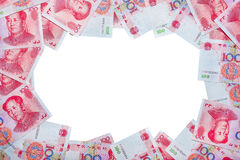 Yuan or RMB, Chinese Currency - middle space Stock Photo