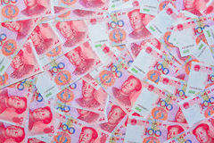 Yuan or RMB, Chinese Currency. Money background Royalty Free Stock Photos