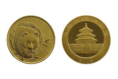Yuan RMB (geïsoleerde goud), royalty-vrije stock afbeeldingen