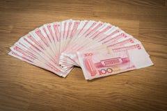 100 yuan, soldi cinesi Fotografia Stock Libera da Diritti