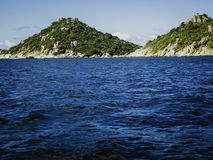 Yuan in spiaggia di Koh Tao, vacanze d'immersione di Nan in roccia bianca fotografie stock
