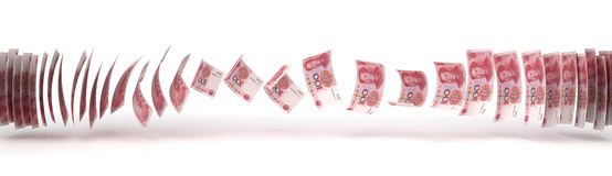 Yuan Transfer Royalty Free Stock Photos