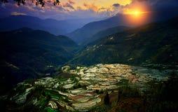 Yuan Yang terrasser - världsnaturarv fotografering för bildbyråer