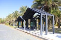yuanboyuan公园,多孔黏土rgb的观光的汽车站 免版税库存照片