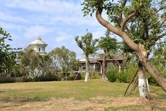 Yuanboyuan ist ein chinesischer klassischer Garten, luftgetrockneter Ziegelstein rgb Lizenzfreie Stockbilder