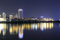 yuandang湖夜视域 库存照片