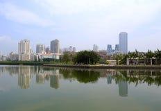 Yuandang jezioro w popołudniu Obraz Stock