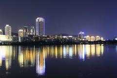 The yuandang lake night sight Stock Photo