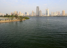 Yuandang sjö i eftermiddagen Royaltyfri Fotografi