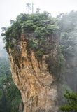 Yuanjiajie Scenic Area with clouds and mist, Wulingyuan, Zhangjiajie National Forest Park, Hunan Province, China, Asia.  stock photos