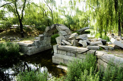 Yuanmingyuan Ruins Park. Beijing China royalty free stock photo