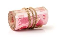 100 yuans Images libres de droits
