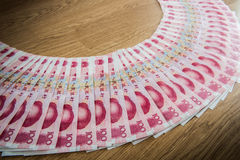 100 yuans, Chinees geld Stock Foto's