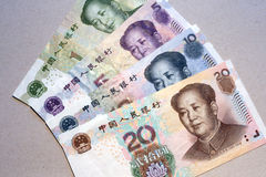 Yuans, Chinese munt Royalty-vrije Stock Foto