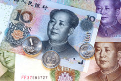 Yuans, Chinese munt Royalty-vrije Stock Afbeelding