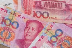 100 yuans chinois Images libres de droits