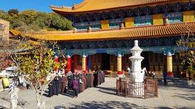Yuantong佛教寺庙的看法在昆明,云南,中国 免版税库存照片