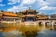 Yuantong Kunming tempel av Yunnan Royaltyfria Bilder