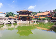 Yuantong Kunming Temple in sunny day, Kunming capital city of Yu Stock Images