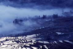 Yuanyang rice terraces. Ancient rice terraces of yuanyang,Yunnan,China Royalty Free Stock Image