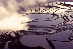 Yuanyang rice terraces Stock Photos