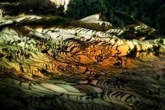 Yuanyang Riceterrasser i Yunnan, Kina Arkivbilder