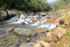 yuanyang XI (鸳鸯)小河瀑布  库存照片