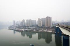 Yuao Jialiang river bridge Stock Photo