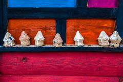 Yuba de Dan de la provincia de Sichuan de China, artes coloridos en pueblo tibetano del jiaju fotos de archivo