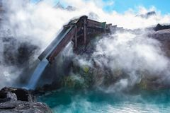 Yubatake hot spring in Kusatsu onsen. Stock Photography