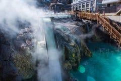 Yubatake hot spring in Kusatsu onsen. Stock Images