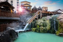 Free Yubatake Hotspring At Kusatsu Onsen Town In Gunma, Japan Royalty Free Stock Photo - 124648035