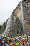 YUBENG, CHINE - 10 août 2014 : Cascade sainte au village de Yubeng a Photo stock