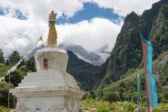 YUBENG, CHINE - 8 août 2014 : Pagoda au village de Yubeng un l célèbre Image stock