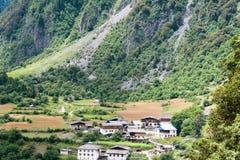 YUBENG, CHINE - 8 août 2014 : Village de Yubeng un point de repère célèbre dedans Image stock